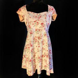 Tan Flower Dress